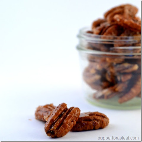 Sweet and Spicy Pecans for #SundaySupper