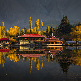 Shangrilla Hotel Skardu by Basharat Ali - Buildings & Architecture Other Exteriors ( colors, morning glory, reflections, landscape, photography )