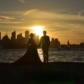 Sydney at Dusk by Angela Taya - Novices Only Landscapes