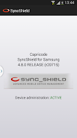 Screenshot of SyncShield for Samsung