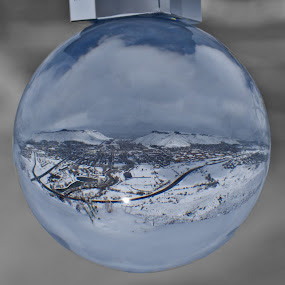 CSM Dream World by Logan Knowles - Artistic Objects Glass ( ball, monochrome, glass, colorado, campus,  )