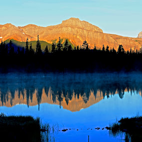 Morning Notes by  J B  - Landscapes Sunsets & Sunrises ( canada, spray lakes, reflections, sunrise )