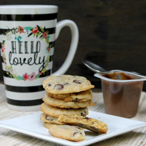 Chocolate Chip Caramel Latte Pudding Cookies