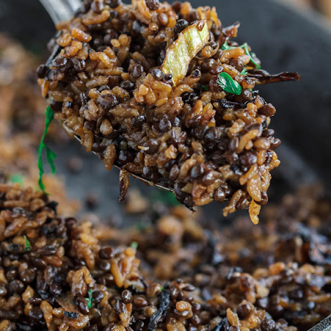 Lentils and Rice with Crispy Onions