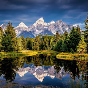 by Brent Clark - Landscapes Mountains & Hills ( mountains, wyoming, grand tetons, landscape, tetons )