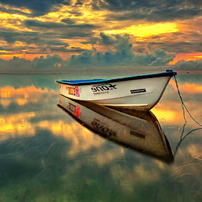 Glosssy by Agoes Antara - Landscapes Waterscapes ( boat )