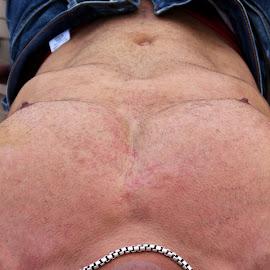 Hubert by Gary Mergelkamp - Nudes & Boudoir Artistic Nude ( torso, nude, male, jeans, muscle, sensual )