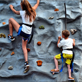 wall climbing at the gala by Nic Scott - Babies & Children Children Candids ( climbing, children, kids )