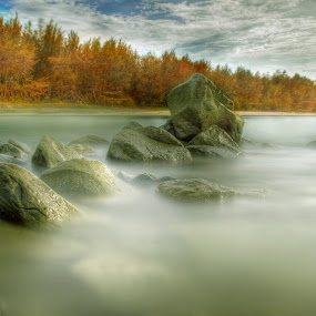 Tungku Beach by Mohamad Sa'at Haji Mokim - Landscapes Waterscapes ( water, stock, pwcautumn, stone, beach, landscape )