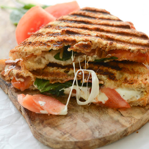 Whole Wheat BLT Caprese Panini