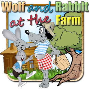 Wolf and rabbit - at the farm