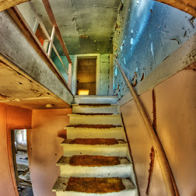 Stairway To.....? by Bruce Martin - Buildings & Architecture Other Interior ( ubranx, abandon homes, decay )