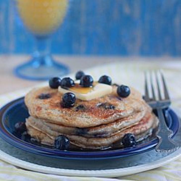 Lemon Blueberry Yogurt Pancakes Recipe | Yummly