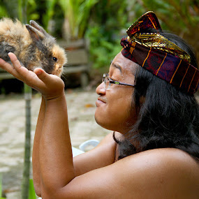 Bli Oyan With His Baby Rabbit by Ferry's Lens - Animals Other