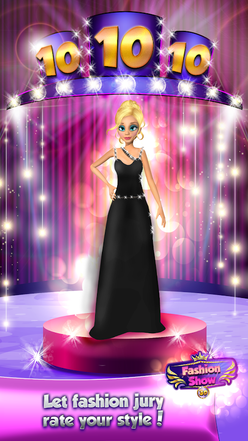 Model Dress Up Fashion Show Game Screenshot