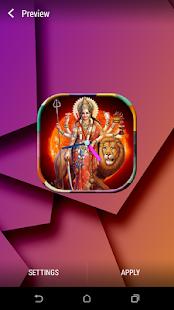 Durga Maa Clock Live WallPaper - screenshot