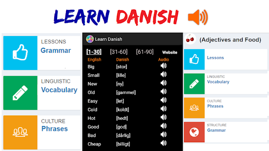 Learn Danish - screenshot