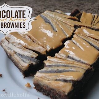 Chocolate Peanut Butter {gf} Brownies