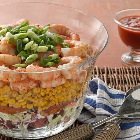 Layered Shrimp Boil Salad