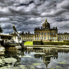Atlas Fountain and Castle Howard by Keith Britton - Buildings & Architecture Public & Historical