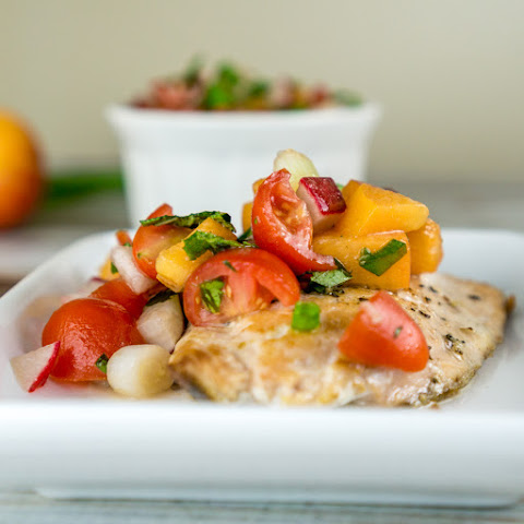 Salmon with Tomato Apricot Relish