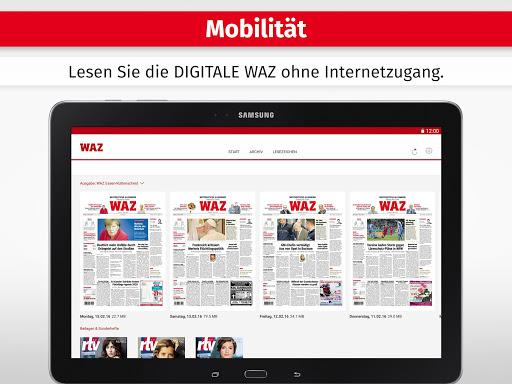 WAZ ZEITUNG DIGITAL - screenshot