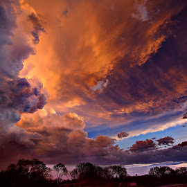 Angry Faces by Derrill Grabenstein - Landscapes Cloud Formations
