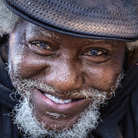 Homeless man by Lee Molof - People Portraits of Men