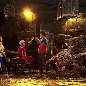 Bird Market by Joni Irwanto - Babies & Children Children Candids ( strobist, indonesia, human interest )