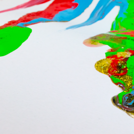 Mixed Paints by Robert George - Abstract Macro