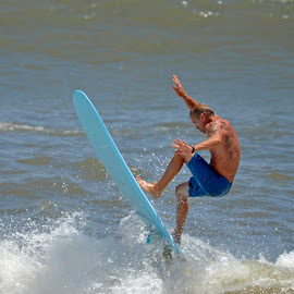 Surfing by Bill Telkamp - Sports & Fitness Surfing ( surfing, waves, summer, ocean, beach )