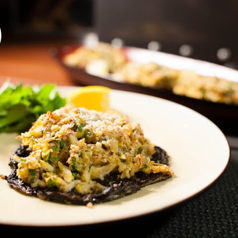 Paleo Crab Stuffed Portobello Mushrooms