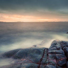 RedRockSunset by Maths Karlsson - Landscapes Waterscapes ( canon, westcost, sweden, stångehuvud, lysekil, bohuslän )
