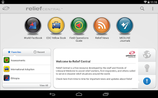 Screenshot of Relief Central