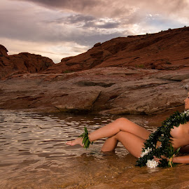 Aloha from Utah by Patrick Miyoshi - People Portraits of Women ( hula dancer swimsuit model utah landscape waterscape bikini )