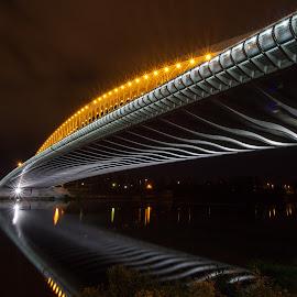 Troja bridge by Radek Lauko - Buildings & Architecture Bridges & Suspended Structures ( night photography, night time, night city, night, bridge, prague )