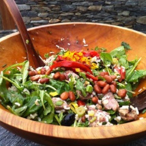 Pinto Bean, Roasted Red Pepper and Steak Salad