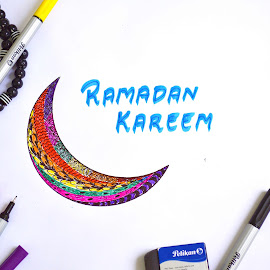 Ramadan Wishes by Roshni Tito - Drawing All Drawing ( colourful, artistic, artistic objects, ramadan )