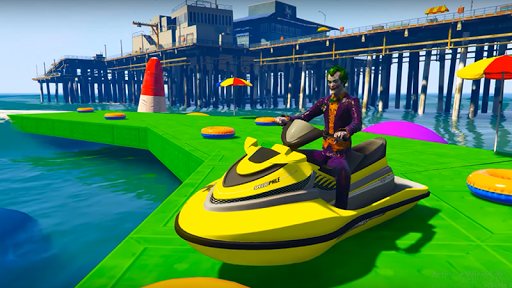 Superheroes Jet Ski Stunts: Top Speed Racing Games For PC