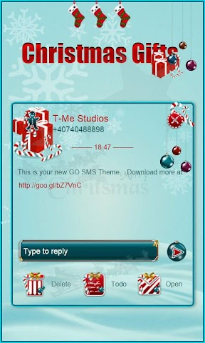 android Christmas Gifts GO SMS Screenshot 4
