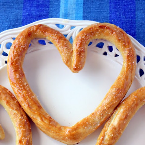 Heart Shaped Soft Pretzels