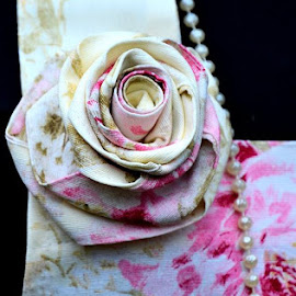 Rose corsage by Heather Aplin - Artistic Objects Clothing & Accessories ( rose, delicate, elegant, pearls, dress, white, feminine, pink, pretty, corsage )