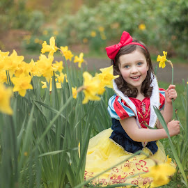 Some day when Spring is here by Nicola Morrison - Babies & Children Child Portraits ( magic, beauty, natural, woodland, natural light, candids, portrait, spring, little girl, disney, fairytale, princess, daffodils, portraiture )