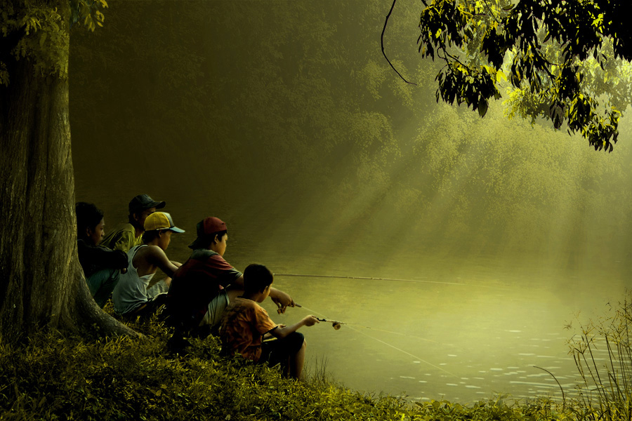 mancing bersama by Ipoenk Graphic - Digital Art People ( human interest )