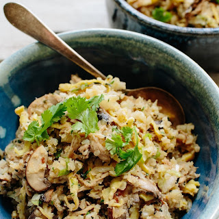 Asian Cauliflower Fried Rice with Kalua Pork