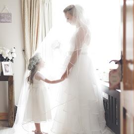 Unforgettable - Bride and Her Daughter  by Kaspars Sarovarcenko - Wedding Bride ( irish wedding photographer, limerick wedding photographer, bride and daughter, bride, flower girl )