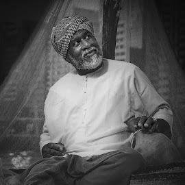Fisherman by Muhannad Salem - People Portraits of Men ( tradiotinal, fisherman, arabian, man )