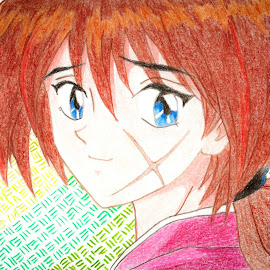 Rurouni Kenshin by Israel  Padolina - Drawing All Drawing ( kenshin himura, cartoon, color pencil, samurai x, anime )