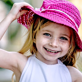 My pink hat. by Sylvester Fourroux - Babies & Children Child Portraits