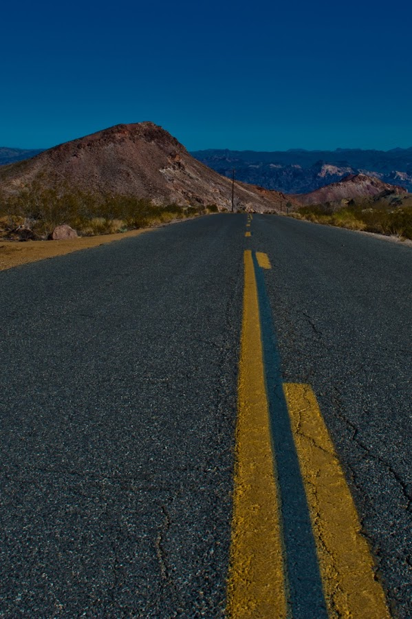 Ease on Down the Road by Jeff Weiler - Landscapes Deserts ( line, road )